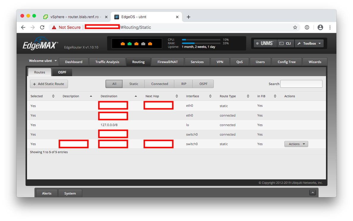 Firewall Config 08 Ubnt Static Route