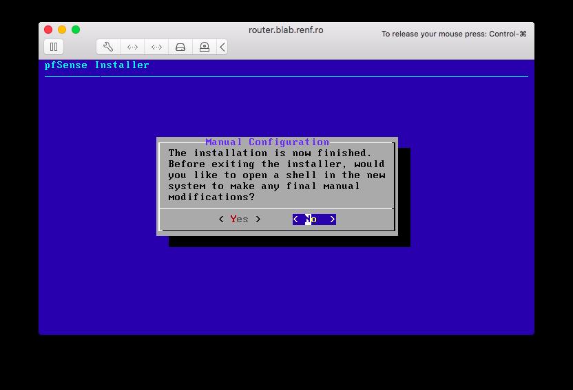 Manual Configuration Dialog