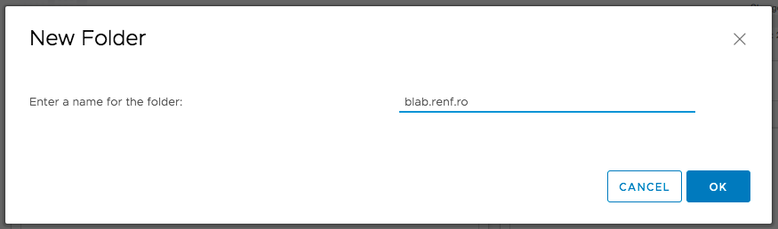 New Network Folder: Name