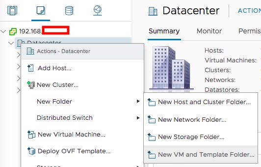 New Vm Template Folder